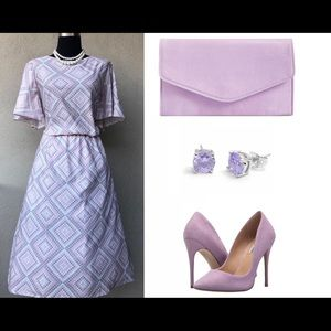 Vintage Gray/Purple Dress